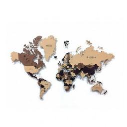 Многоуровневая настенная карта