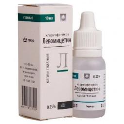 Левомицетин 0.25% 10мл №1