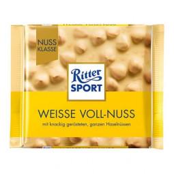 Ritter Sport Extra Nut белый, цельный лесной орех и хлопья