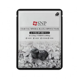 SNP Charcoal mineral black ampoule modeling mask
