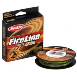 BERKLEY FIRE LINE TRACER BRAID 110м. 0.18мм. YELLOW-BLACK