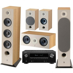 Focal Chora Set 5.0 (826+806+Center) Light Wood + Denon AVR-X2600H