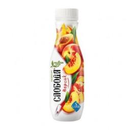 Питьевой йогурт Слобода Био с персиком