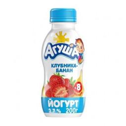 Йогурт питьевой Агуша клубника-банан