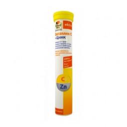 Доппельгерц Актив витамин C + цинк таб. шип. апельсин-гранат № 15