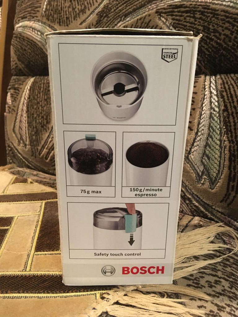 Бодрое утро с кофемолкой Bosch